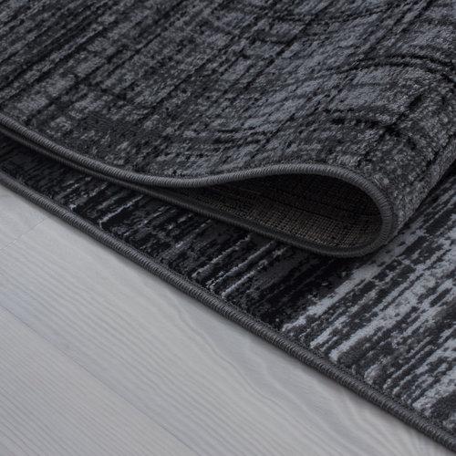 PLUS Plus Ster Vloerkleed Grijs / Zwart Laagpolig