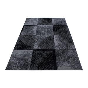 PLUS Plus Vloerkleed Grijs / Zwart Laagpolig