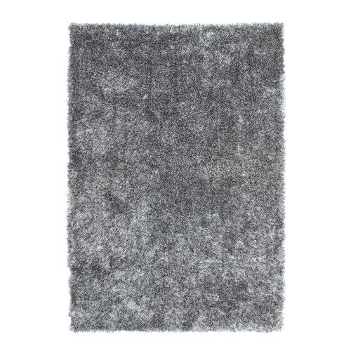 Diamond Diamond Soft Fluweel Vloerkleed Grijs Hoogpolig