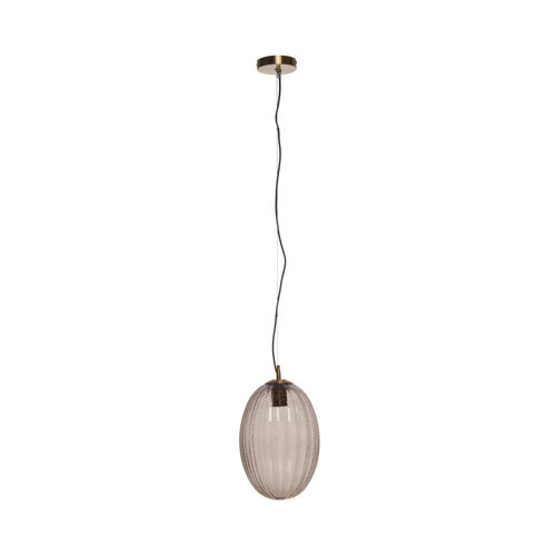 Kayoom Lighting Decoratieve hanglamp Retro - Glas - Grijs