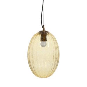 Kayoom Lighting Decoratieve hanglamp Retro - Glas - Geel