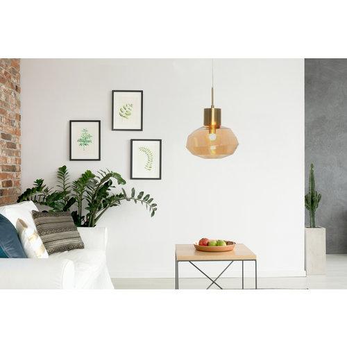 Kayoom Lighting Hanglamp Glas - Vince - Oranje