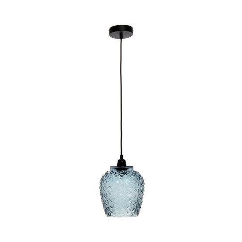 Kayoom Lighting Vila Retro Hanglamp Glas Blauw