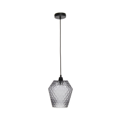 Kayoom Lighting Lumi Retro Hanglamp Glas Grijs