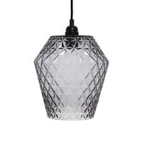 Lumi Retro Hanglamp Glas Grijs