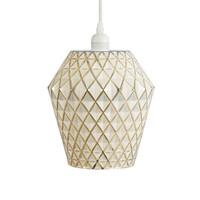 Lumi Retro Hanglamp Glas Goud / Wit
