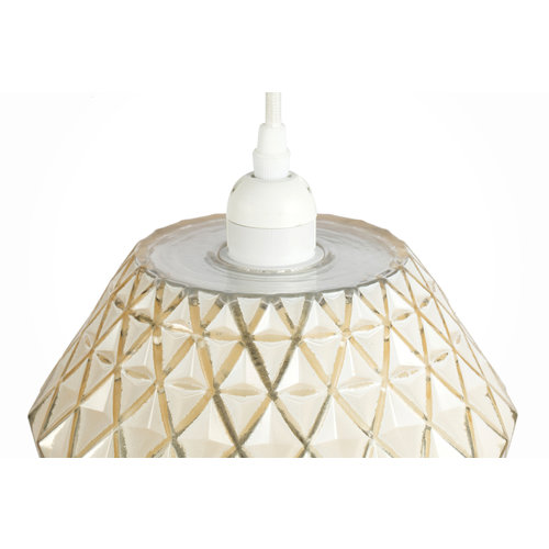 Kayoom Lighting Lumi Retro Hanglamp Glas Goud / Wit