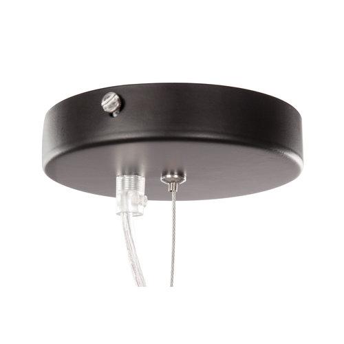 Kayoom Lighting Hanglamp Calai Glas - Metaal Grijs / Zwart