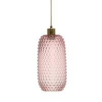 Irina Retro Glas Hanglamp Roze