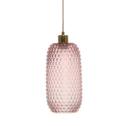 Kayoom Lighting Irina Retro Glas Hanglamp Roze