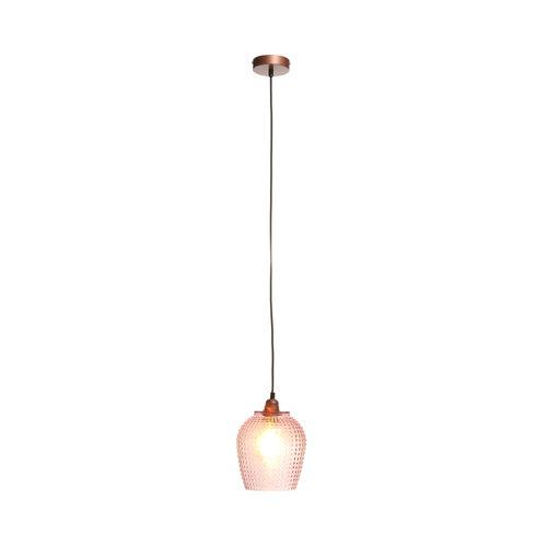 Kayoom Lighting Riva Handgemaakt Hanglamp Glas Roze