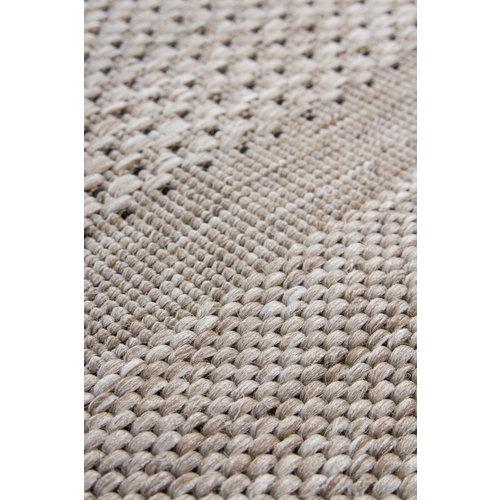 Sweden Sisal Natural Vloerkleed Zilver Laagpolig