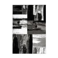Swing Vloerkleed Modern Wit / Zwart Laagpolig