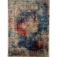 Picasso Heriz Vintage Vloerkleed Multi / Blauw Laagpolig