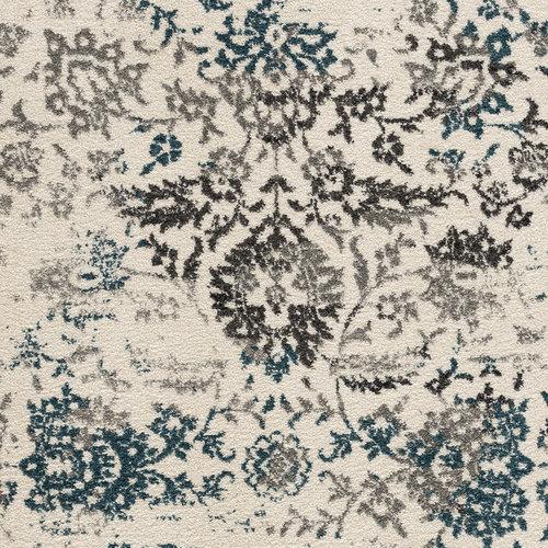 Vintage Vintage Gachet Vloerkleed Creme / Blauw Laagpolig