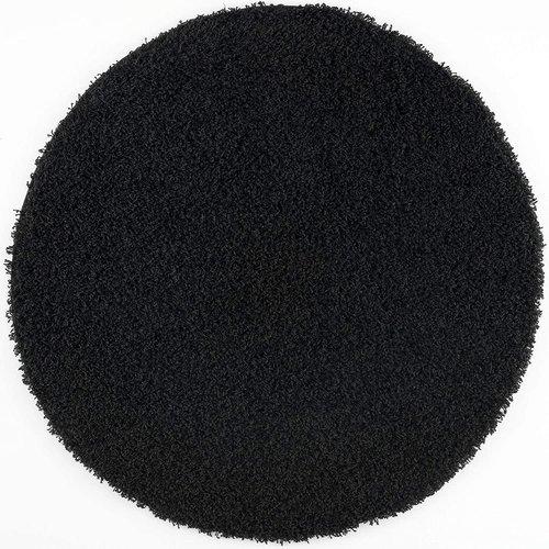 Loca Impression Shaggy Rond Vloerkleed Zwart Hoogpolig