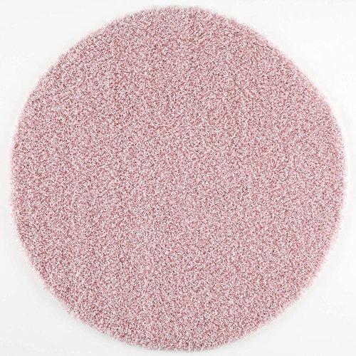 Loca Impression Shaggy Rond Vloerkleed Licht Roze Hoogpolig