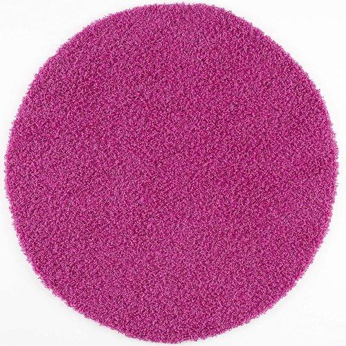 Loca Impression Shaggy Rond Vloerkleed Roze Hoogpolig