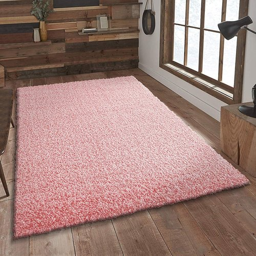 Loca Impression Shaggy Vloerkleed Licht Roze Hoogpolig