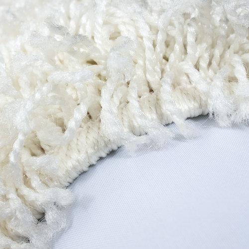 Himalaya Himalaya Basic Rond Shaggy vloerkleed Creme Hoogpolig