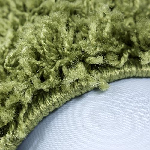 Himalaya Himalaya Basic Shaggy vloerkleed Groen Hoogpolig