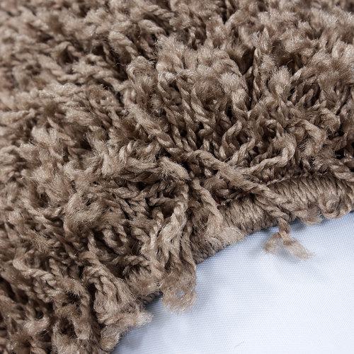 Himalaya Himalaya Basic Rond Shaggy vloerkleed Caramel Hoogpolig