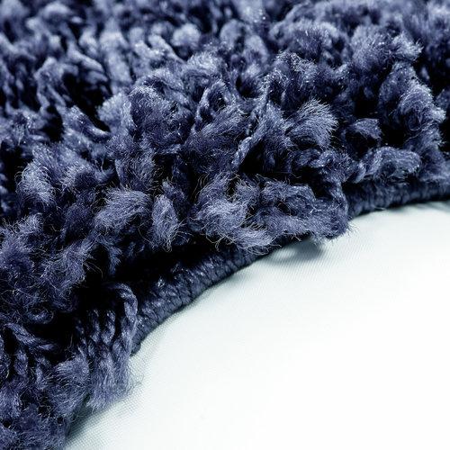 Himalaya Himalaya Basic Shaggy vloerkleed Donker Blauw Hoogpolig
