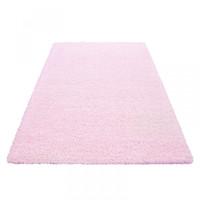 Himalaya Basic Shaggy vloerkleed Roze Hoogpolig