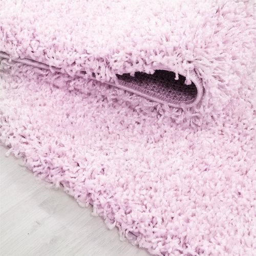 Himalaya Himalaya Basic Shaggy vloerkleed Roze Hoogpolig