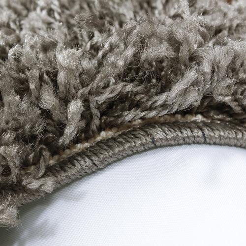 Himalaya Himalaya Basic Shaggy vloerkleed Taupe Hoogpolig