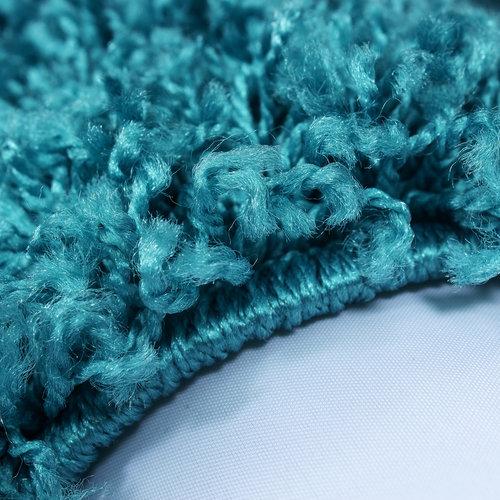 Himalaya Himalaya Basic Shaggy vloerkleed Turquoise Hoogpolig