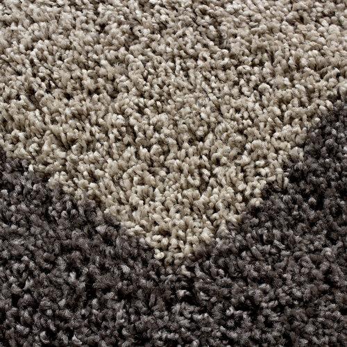 Himalaya Himalaya Basic Shaggy Kader vloerkleed Taupe Hoogpolig