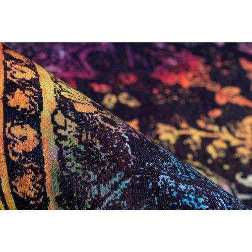 Galaxy Ibiza ART kleurvol vintage vloerkleed Laagpolig