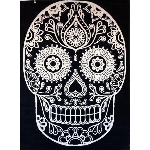 Skull Dia de los Muertos Skull Vloerkleed Doodskop Laagpolig - 185x270CM
