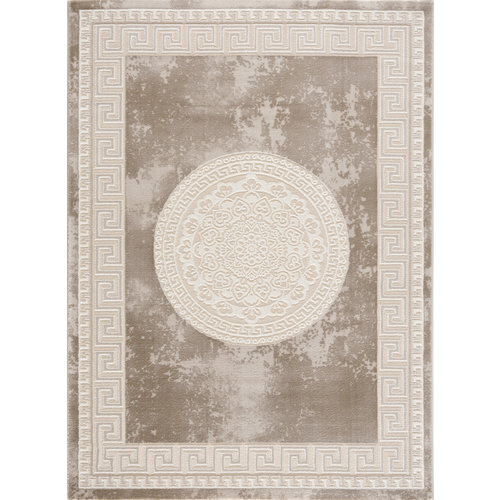Harmony Harmony Laagpolig Vloerkleed Medaillon Beige