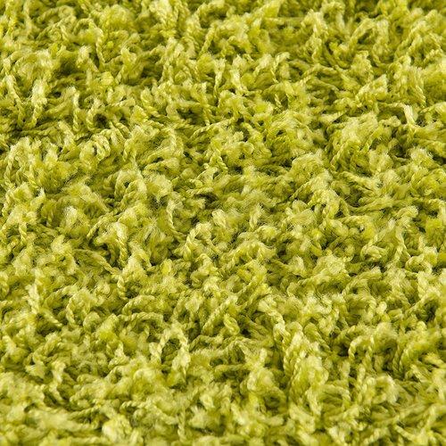 Loca Impression Shaggy Rond Vloerkleed Groen Hoogpolig