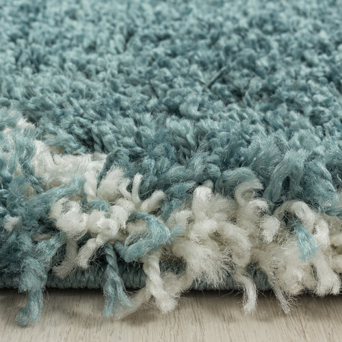 SALSA SHAGGY Himalaya Opera Soft Shaggy Rond Hoogpolig Vloerkleed Blauw / Turquoise