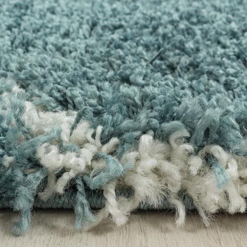 SALSA SHAGGY Himalaya Opera Soft Shaggy Hoogpolig Vloerkleed Blauw / Turquoise