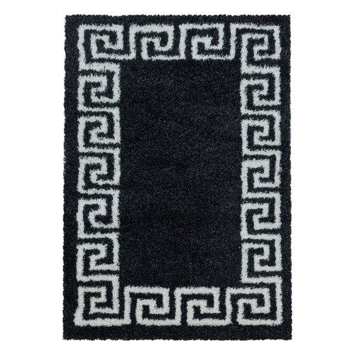 HERA SHAGGY Himalaya Pera Soft Shaggy Hoogpolig Vloerkleed Zwart / Wit
