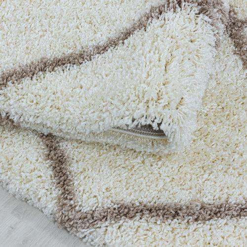 ALVOR SHAGGY Himalaya Harmony Soft Shaggy Hoogpolig Vloerkleed Creme