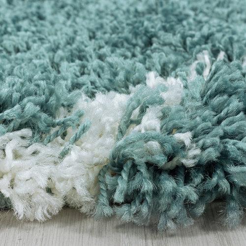 ALVOR SHAGGY Himalaya Harmony Soft Shaggy Rond Hoogpolig Vloerkleed Blauw / Turquoise