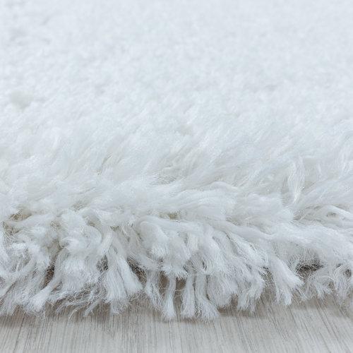 FLUFFY SHAGGY Himalaya Pearl Soft Rond Hoogpolig Vloerkleed Wit