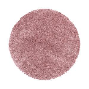 FLUFFY SHAGGY Himalaya Pearl Soft Rond Shaggy Hoogpolig Vloerkleed Roze