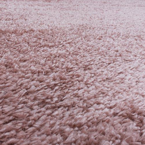 FLUFFY SHAGGY Himalaya Pearl Soft Rond Hoogpolig Vloerkleed Roze