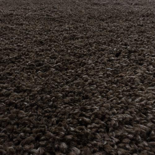FLUFFY SHAGGY Himalaya Pearl Soft Rond Hoogpolig Vloerkleed Bruin