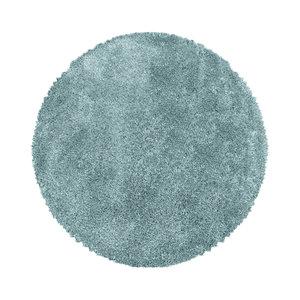 FLUFFY SHAGGY Himalaya Pearl Soft Rond Shaggy Hoogpolig Vloerkleed Blauw