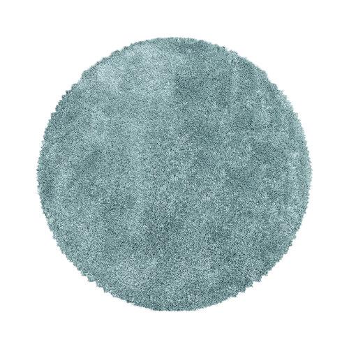 FLUFFY SHAGGY Himalaya Pearl Soft Rond Hoogpolig Vloerkleed Blauw