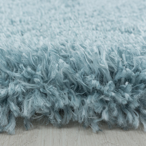 FLUFFY SHAGGY Himalaya Pearl Soft Hoogpolig Vloerkleed Blauw