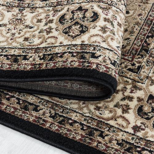 KASHMIR Impression Gholam Oosters Klassiek Laagpolig Vloerkleed Zwart / Beige