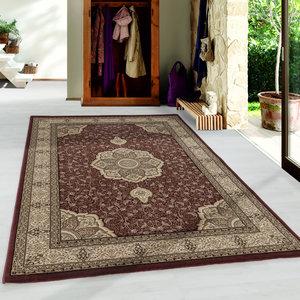 KASHMIR Impression Isfahan Oosters Klassiek Laagpolig Vloerkleed Rood